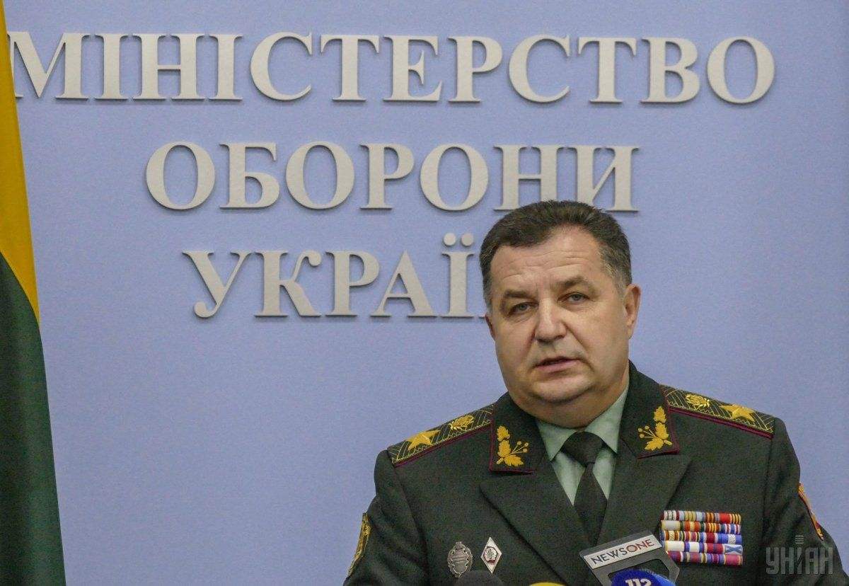 Poltorak says Poroshenko will give 150 pieces of military hardware to the Ukrainian army on August 23 / Photo from UNIAN