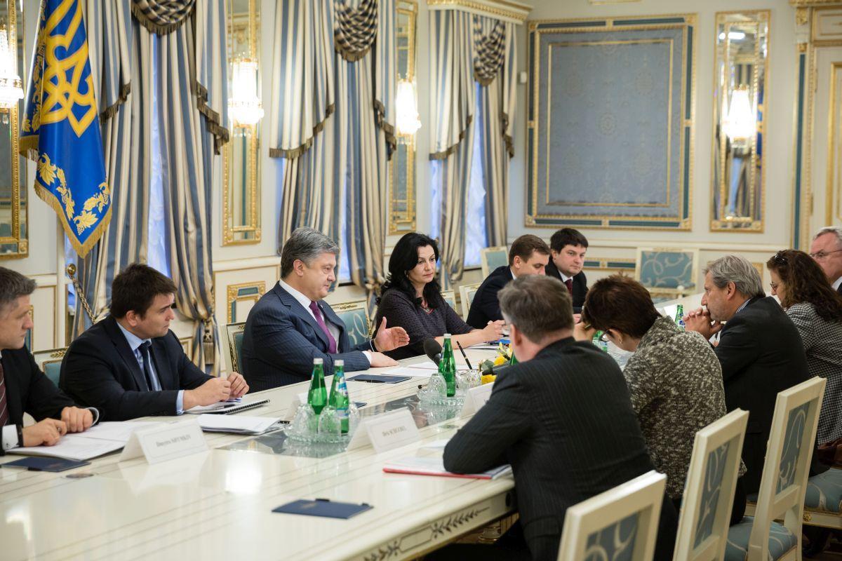Порошенко: Украина готова продемонстрировать решительность вреализации перемен