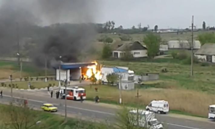 АЗС, Крым, взрыв / avdet.org