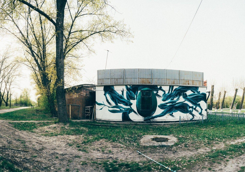 """""""Работа на такой локации – это вызов и мечта для многих стрит-артистов"""" / Фото: Максим Дондюк"""