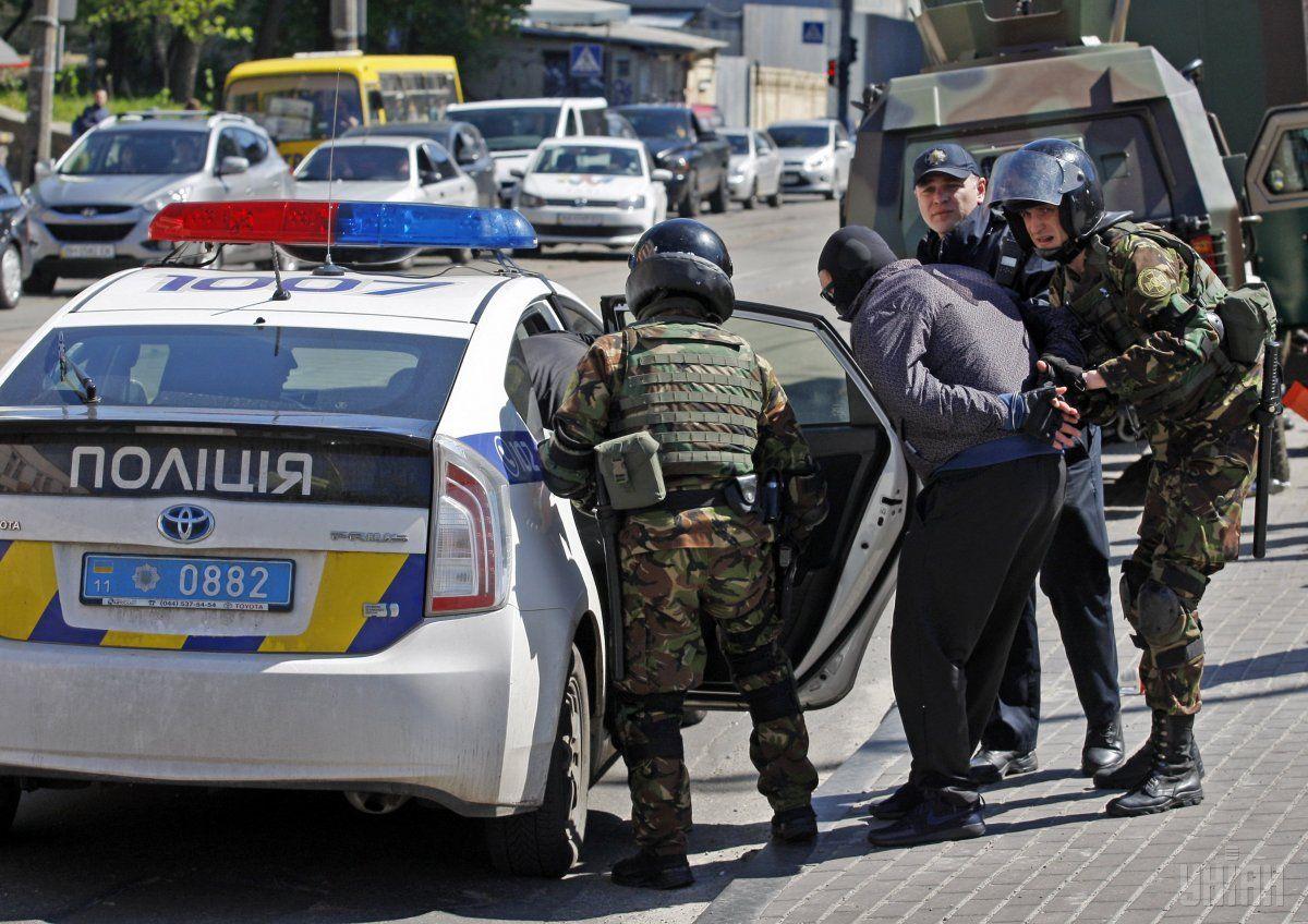 В учениях также принимала участие столичная полиция / УНИАН