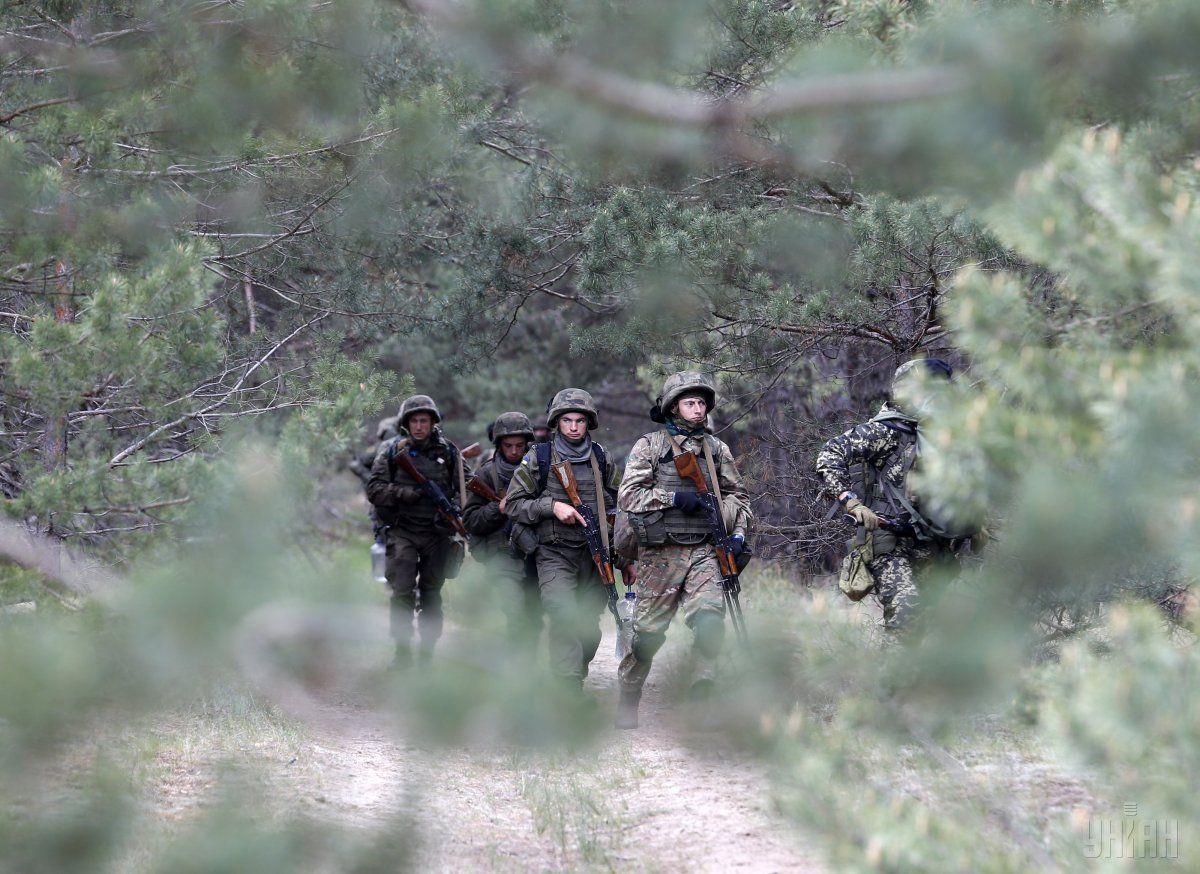 Бойцы бригады быстрого реагирования Нацгвардии во время учений / УНИАН