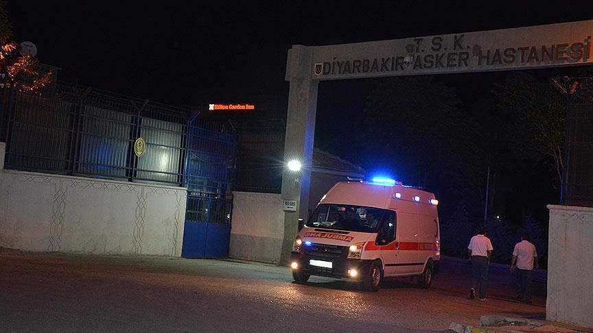 Раненные доставлены в военный госпиталь Диярбакыра / aa.com.tr