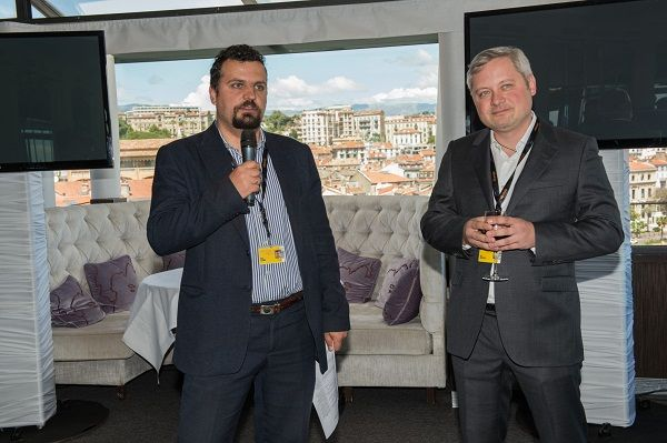Голова Держкіно Пилип Іллєнко та меценат Ігор Янковський відкривають бізнес-ланч