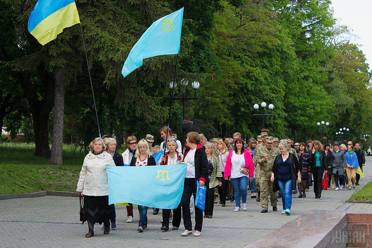 Шествие памяти жертв депортации крымскотатарского народа в Чернигове / УНИАН