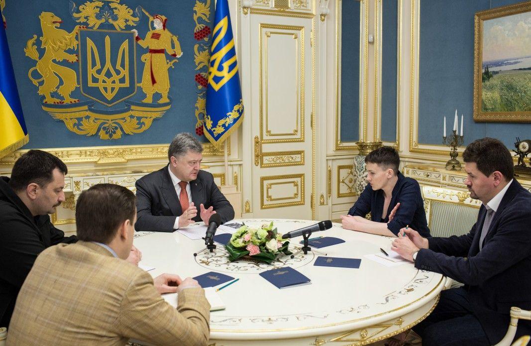Порошенко зустрівся з Савченко / president.gov.ua