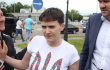 Nadia Savchenko finally in Ukraine <br> twitter @Bykvu