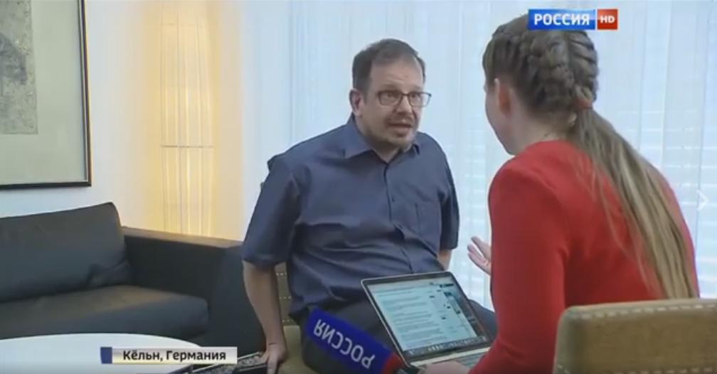 Немецкий журналист вытолкал во время интервью пропагандистку