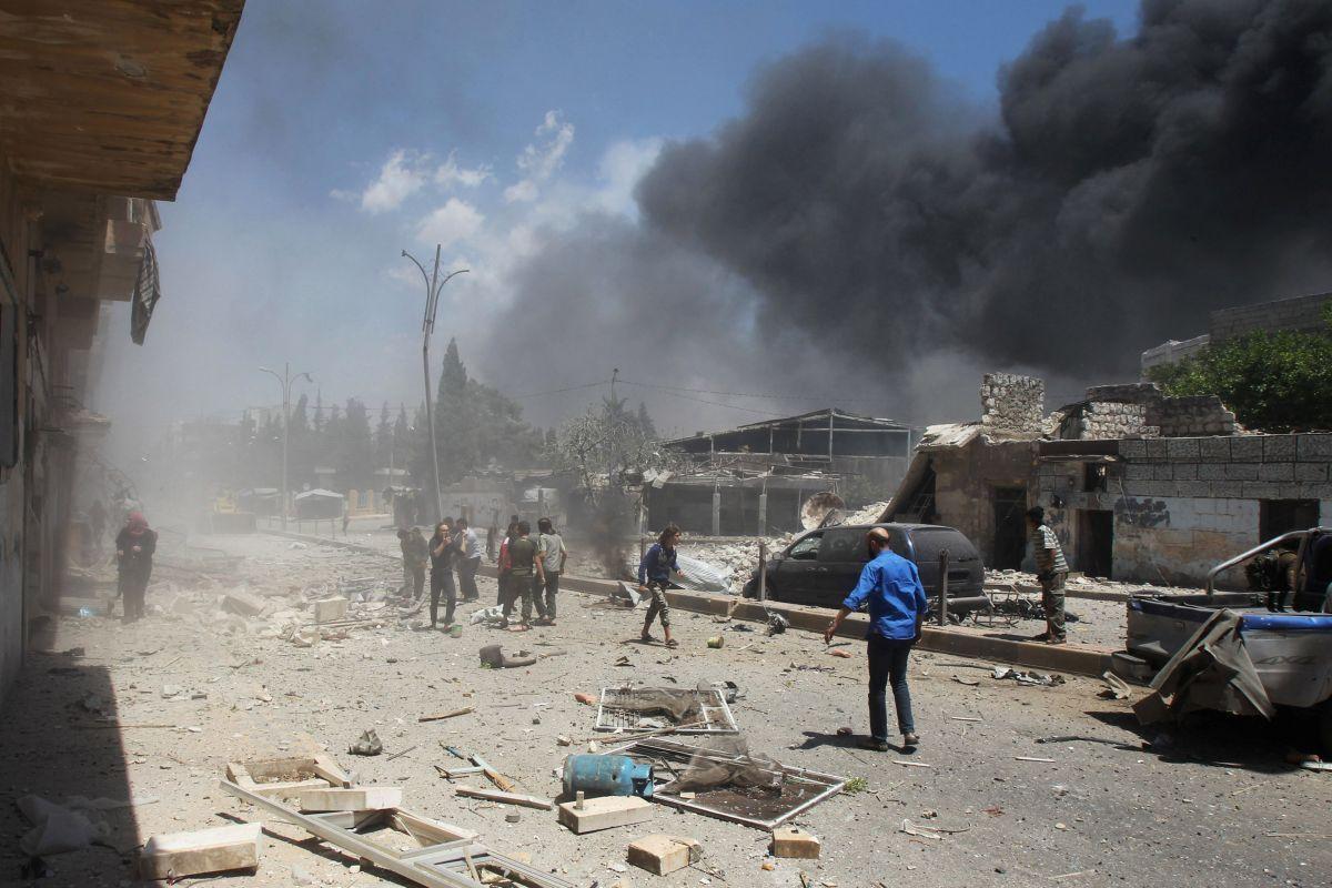 Бомбардировки Идлиба / REUTERS