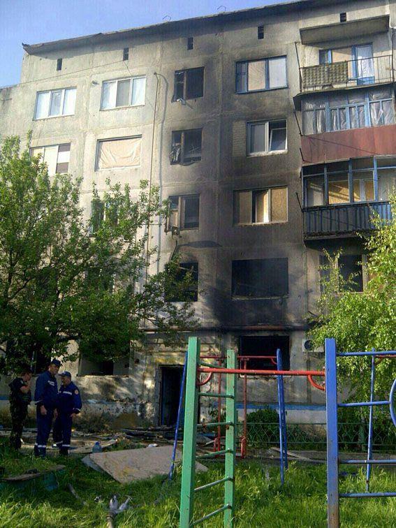 Дом, в который попал снаряд / dn.npu.gov.ua