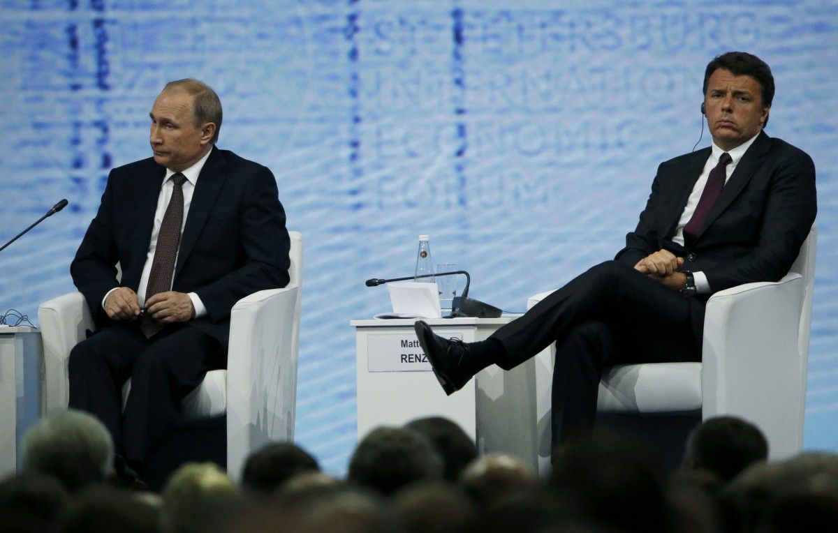 Премьер Италии - Путину: ЕC вводил санкции против РФ без настояния США и будет