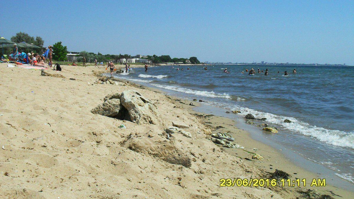 Крым, Евпатория, пляж / twitter.com/krimrt