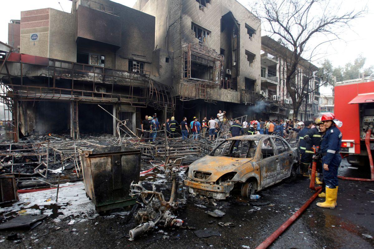 ВИраке объявлен трехдневный траур пожертвам теракта вБагдаде