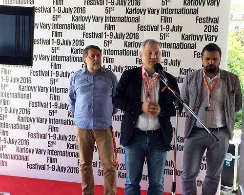 Режисер Віталій Манський, меценат Ігор Янковський та голова Держкіно Пилип Іллєнко