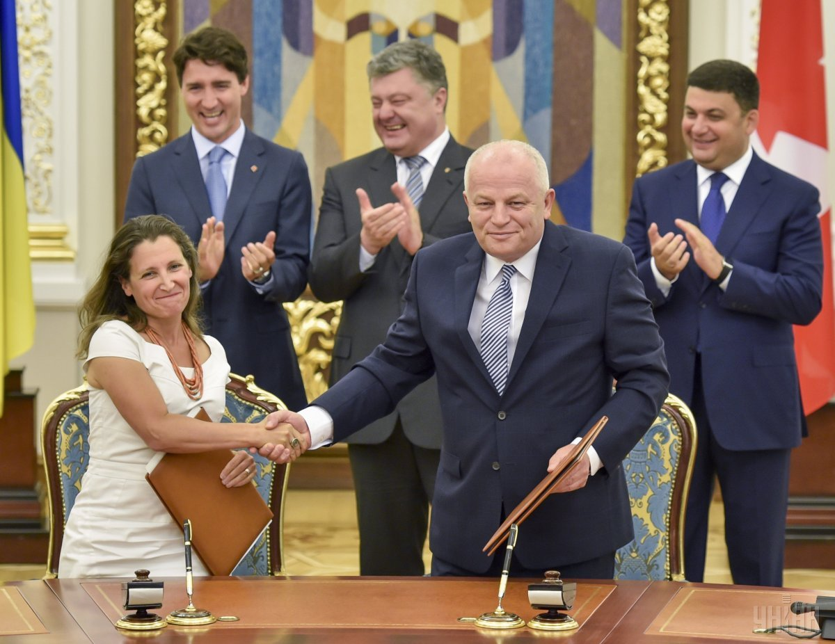 Ukraine and Canada signed an FTA / Photo from UNIAN