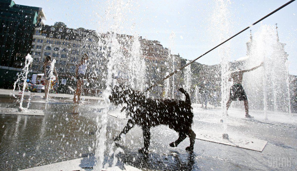 В Киеве 17 июля побит девятилетний рекорд жары: температура достигла +35,4°С