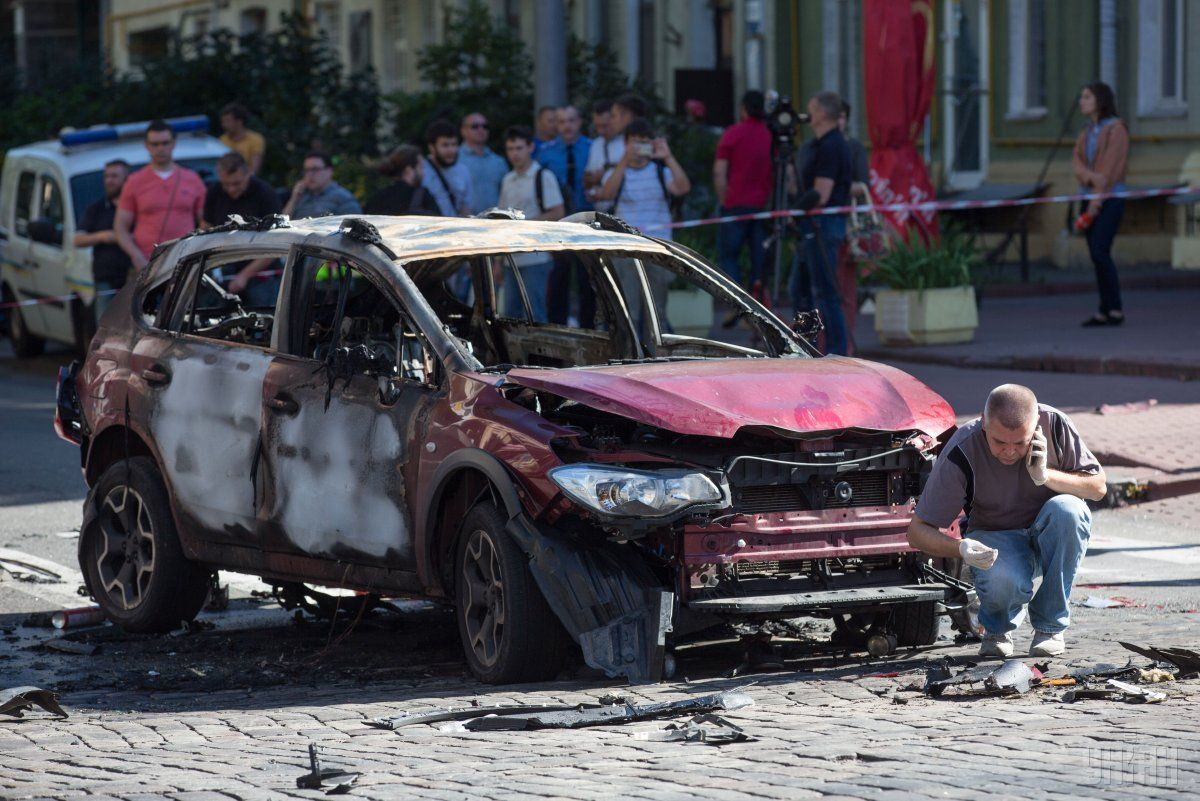 В Киеве утром 20 июля в результате взрыва машины погиб известный журналист Павел Шеремет. / УНИАН