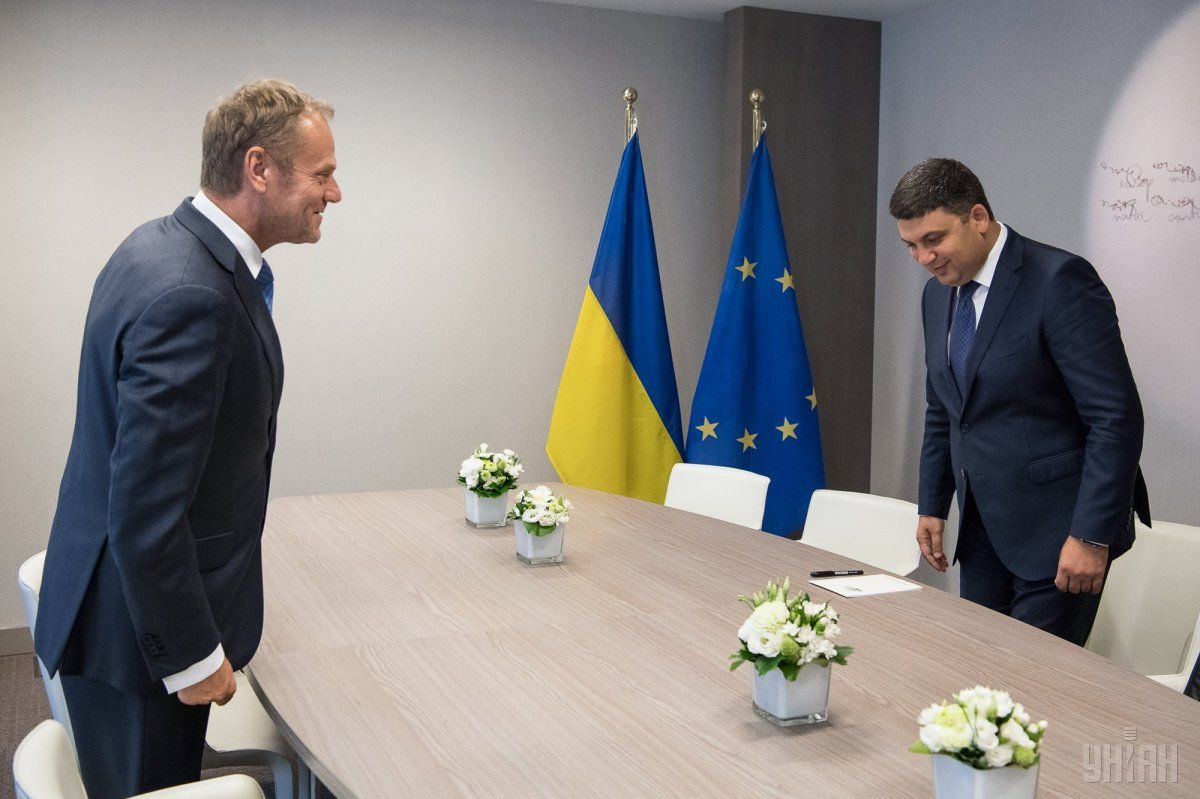 Groysman held talks with the EU leaders in Brussels / Photo from UNIAN
