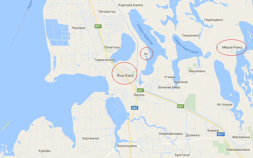 красноперекопск / google.com.ua/maps