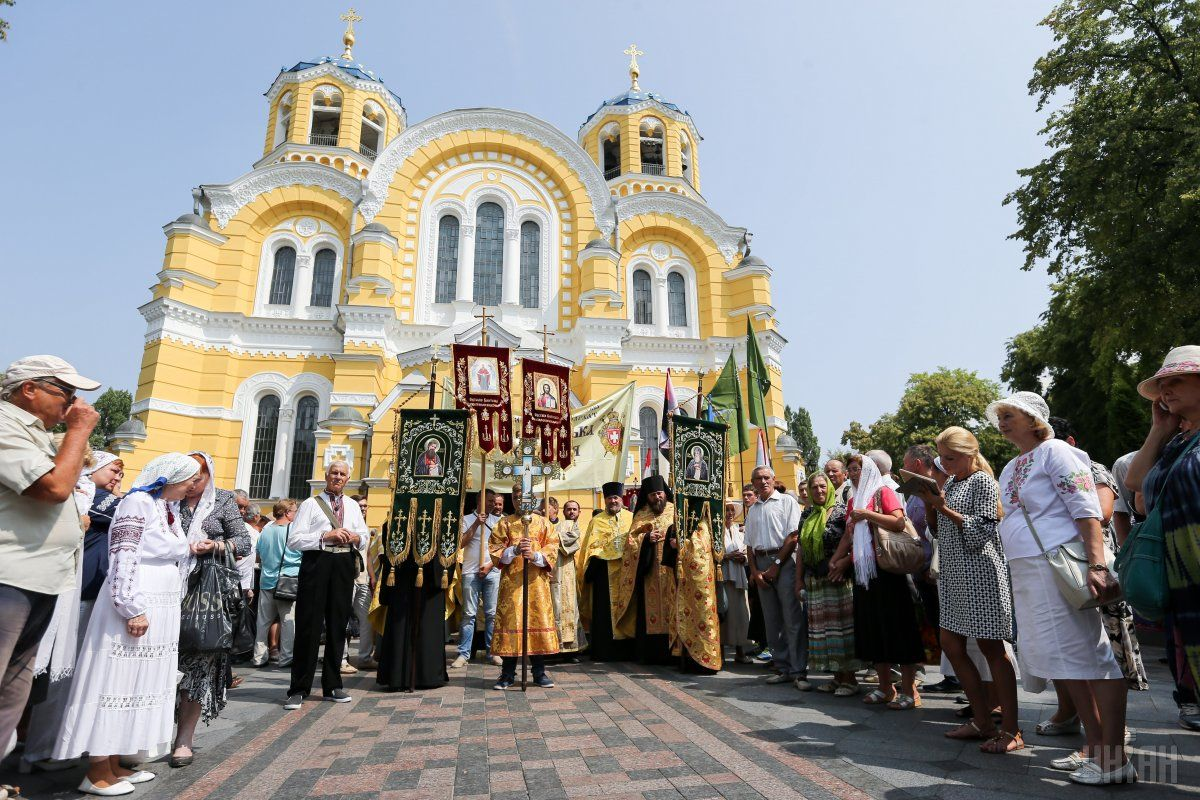 Two religious processions were organized by the UOC-MP and UOC-KP were held in Kyiv / Photo from UNIAN