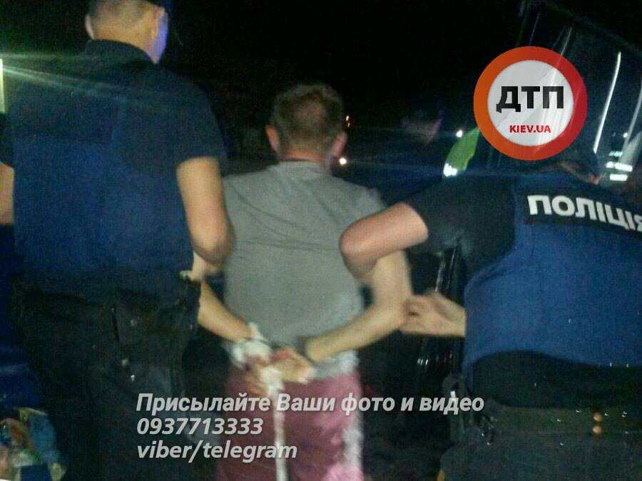 The suspect is now in a detention center / Photo from dtp.kiev.ua, facebook.com/romabra