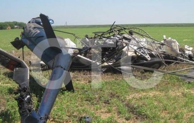 Вертолет МИ-2 горел вСумской области