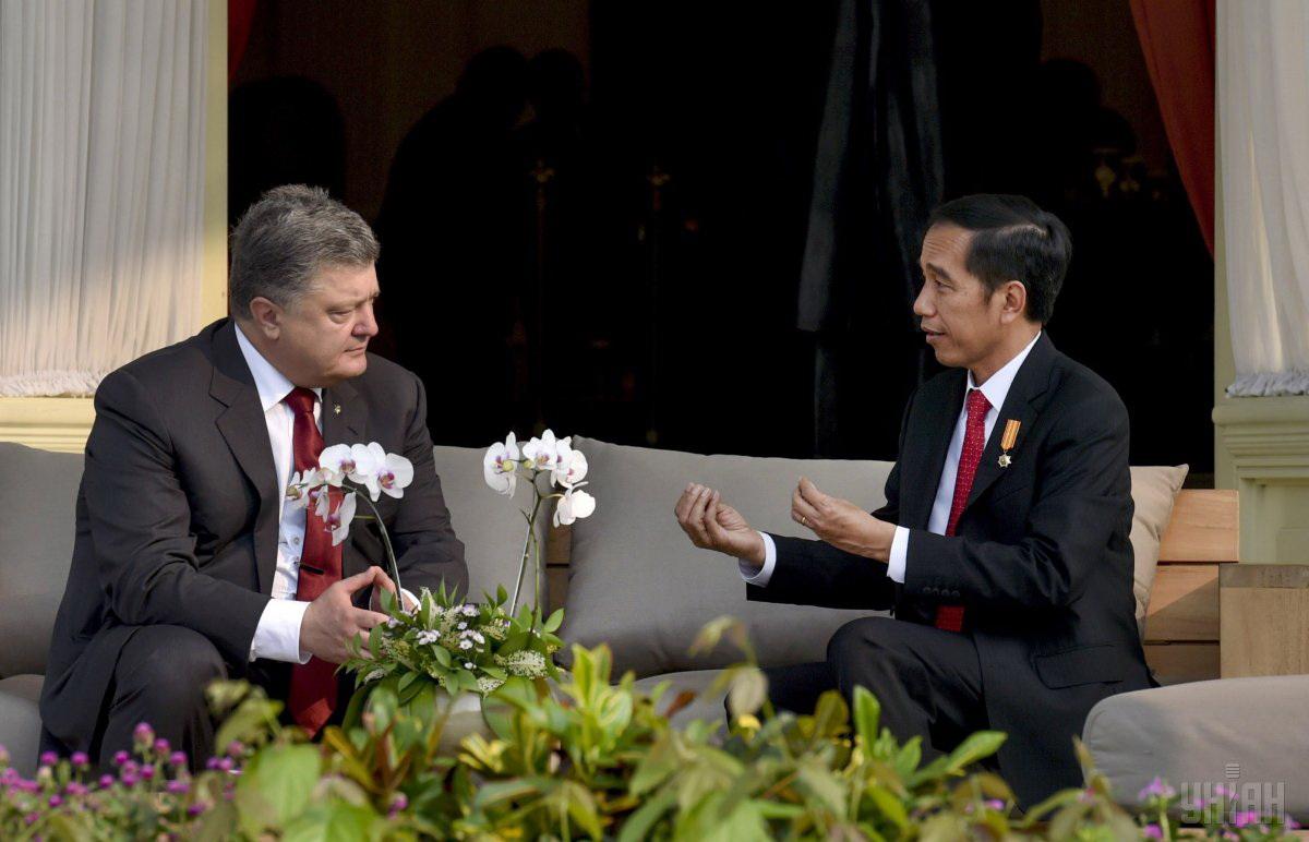 President of Ukraine Petro Poroshenko and Indonesian President Joko Widodo (Jakarta, Indonesia) / Photo from UNIAN