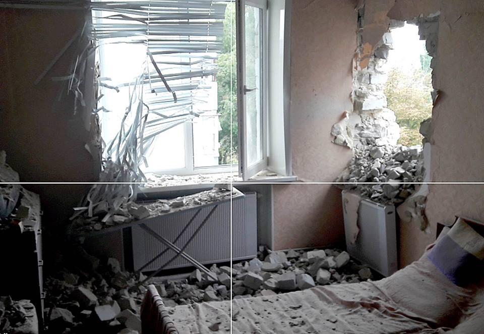 ВМарьинке вмногоэтажку попал 122мм снаряд, пострадавших нет