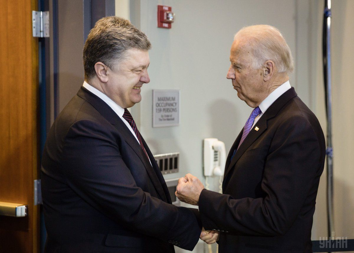 Poroshenko and Biden had a telephone call on Wednesday / Photo from UNIAN