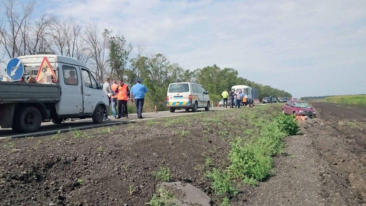 Под Харьковом трое уличных рабочих погибли, двое травмированы отнаезда Дасиа Logan