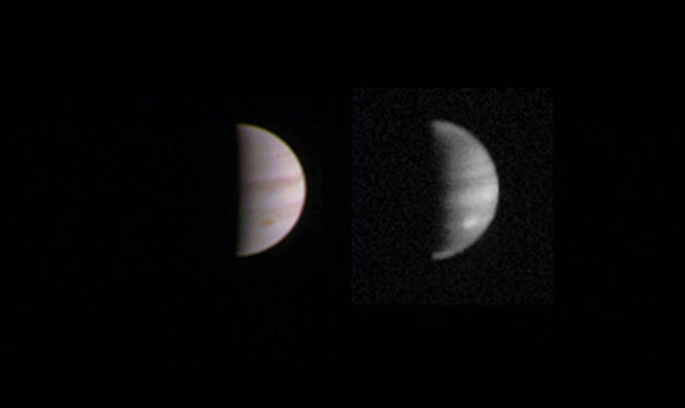 Двойной снимок Юпитера, сделанный