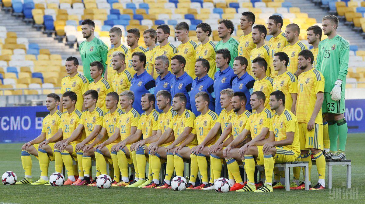 Украина сохранила 30 место в рейтинге ФИФА