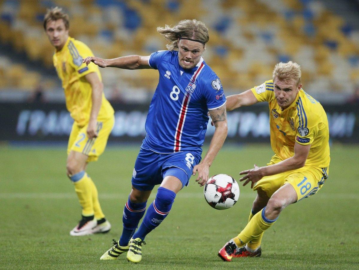 Сборная Украины несмогла переиграть Исландию вотборе наЧМ
