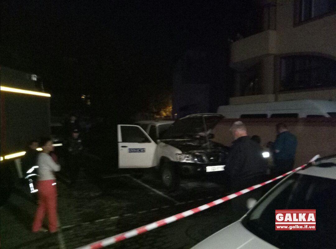 Автомобиль ОБСЕ подожгли вИвано-Франковске