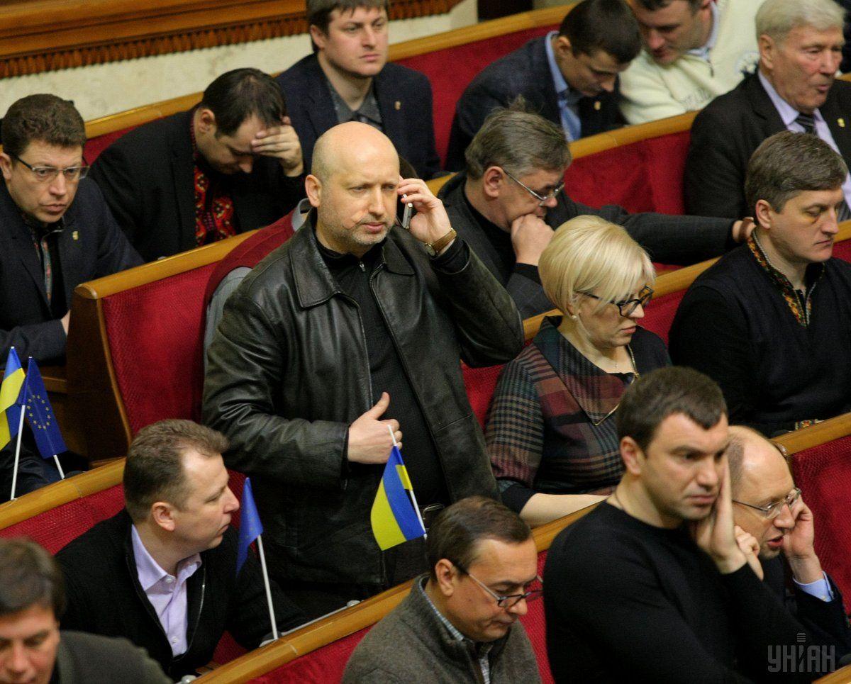 Турчинов: Заставить парламент работать было самой главной и сложной задачей / УНИАН