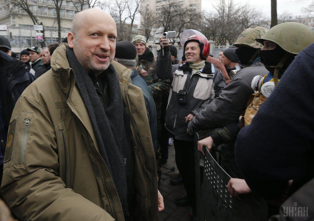 Возле здания Верховной Рады Украины в Киеве, в субботу, 22 февраля 2014 / УНИАН