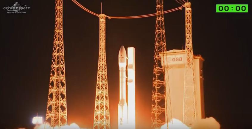 Ракета Vega вывела наорбиту спутники наблюдения заЗемлей