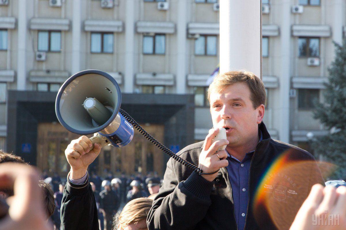 Экс-глава Одесской ОГА Николай Скорик на митинге в Одессе / УНИАН