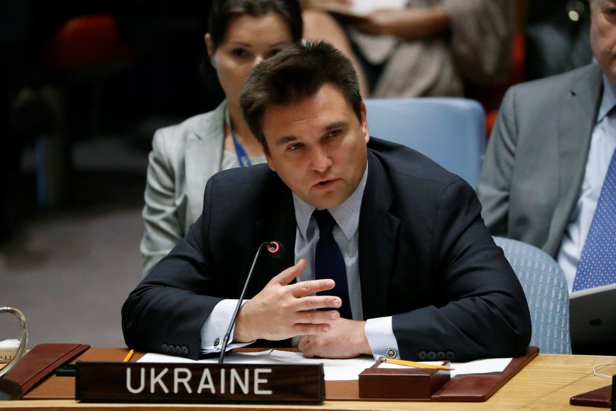 Павел Климкин на Совбезе ООН / Фото REUTERS