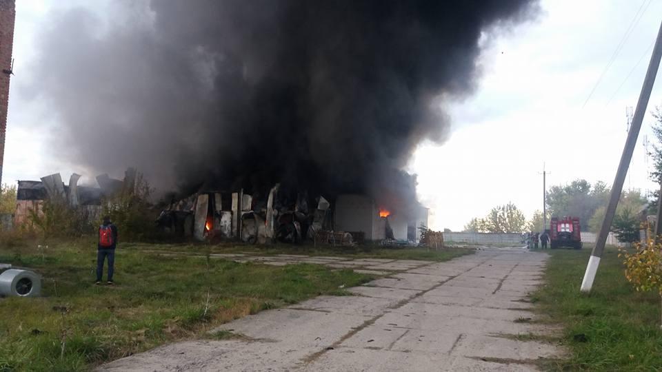 Пожежа виникла на площі близько 800 квадратних метрів / Олена Тімош, Facebook