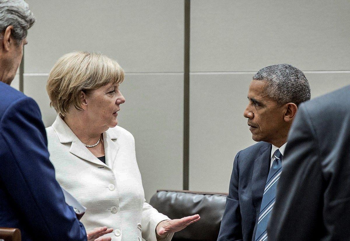 Ангела Меркель, Барак Обама / REUTERS