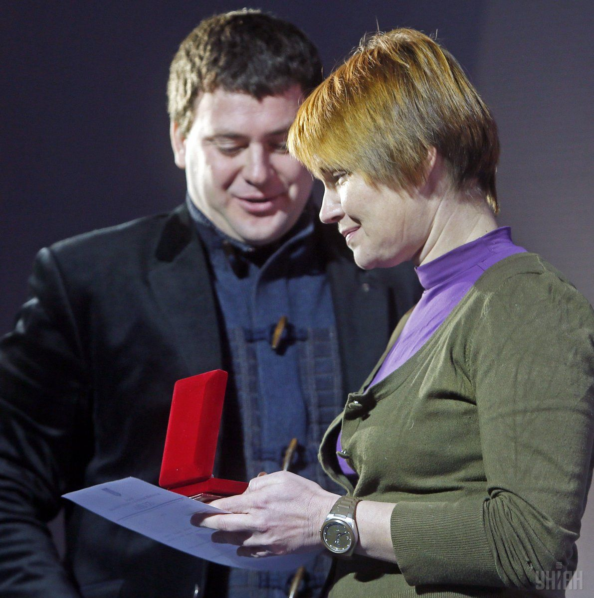Lesia Lytvynova (Oleksandra Koval) received an award