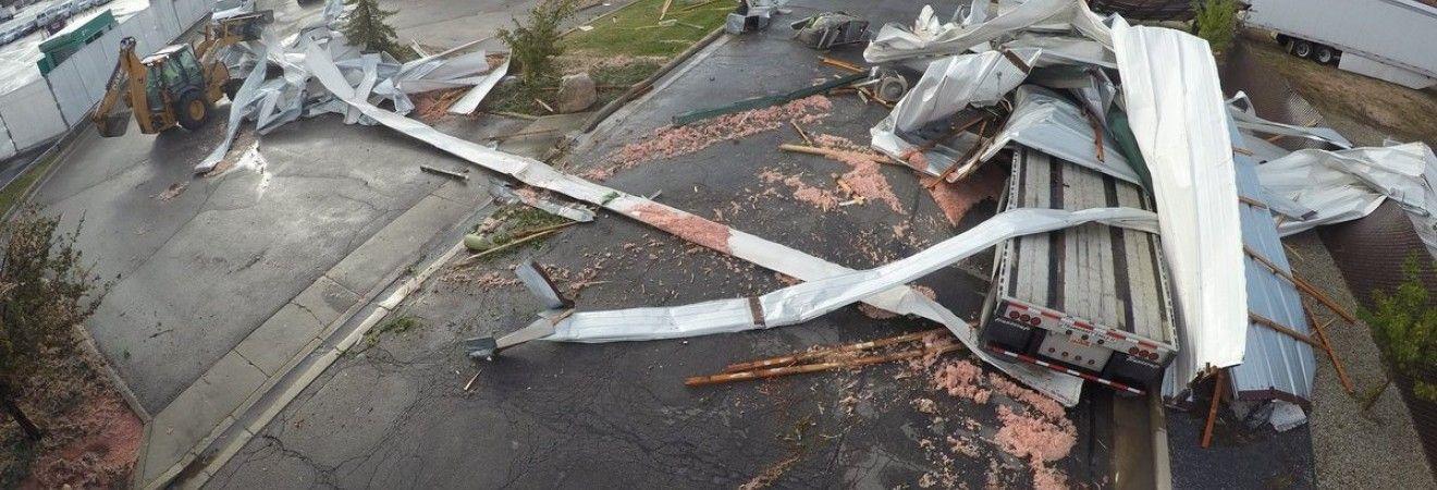 Разрушительный торнадо прошел в штате Юта (фото)