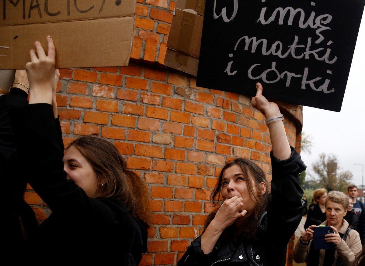 """""""Черный понедельник"""" в Польше / REUTERS"""