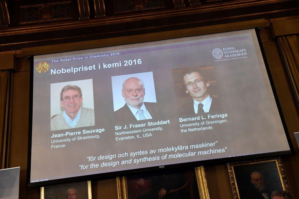 Нобелевскую премию по химии присудили за молекулярные машины / REUTERS