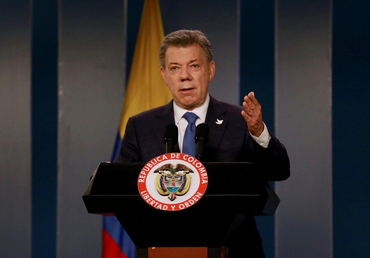 Президент Колумбии Хуан Мануэль Сантос / Архивное фото Reuters