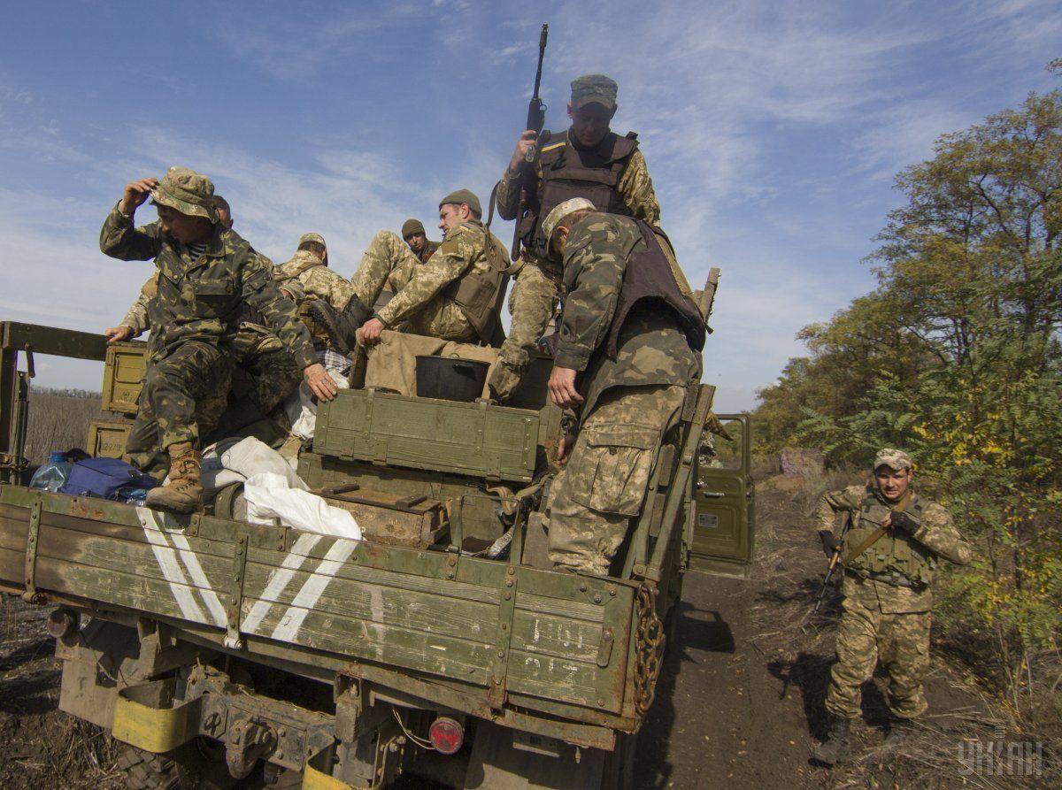 Розведення військ на Донбасі 7 жовтня / Фото УНІАН