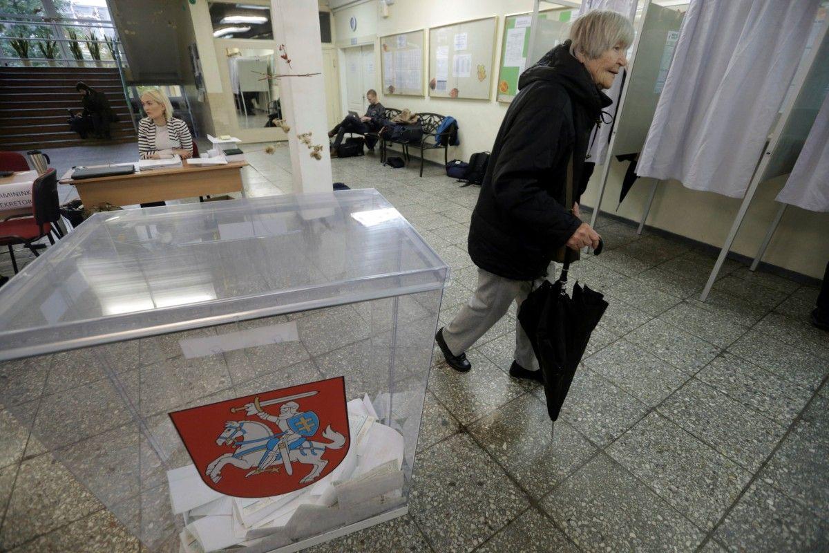 Избирательный участок в Литве, иллюстрация / REUTERS