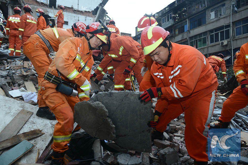 Спасательная операция в Китае / twitter.com/xhnews