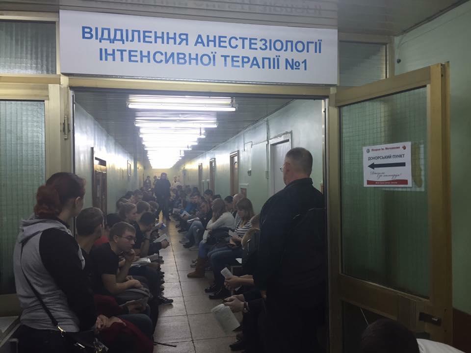 У Дніпрі здають кров для бійців / facebook.com/evgeniy.terehov.583